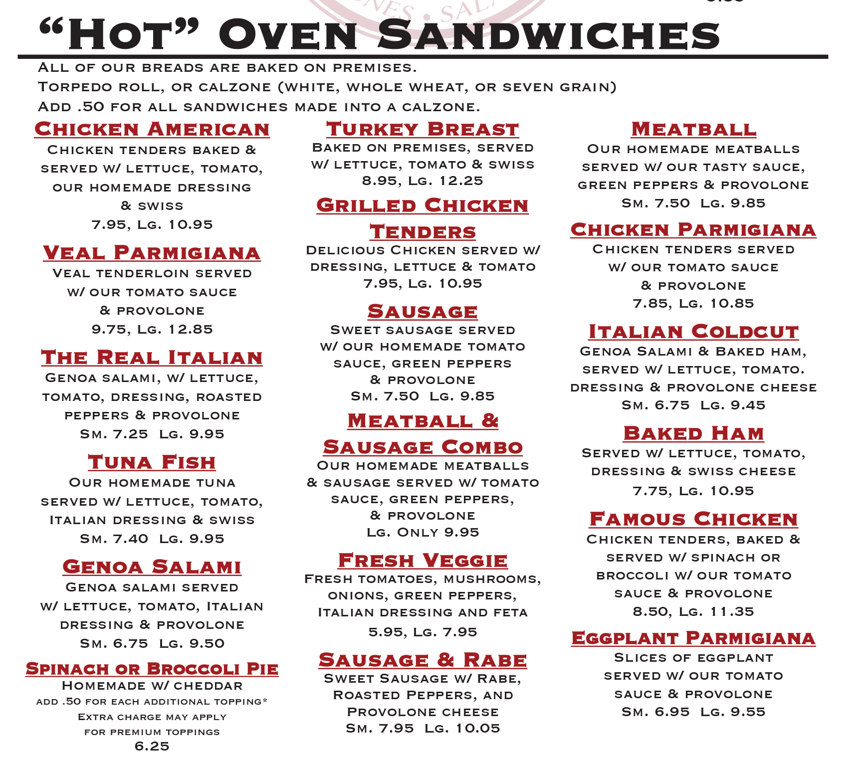 hot oven sandwiches cranston ri